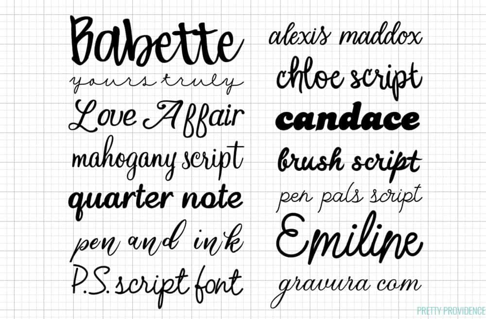 All About Cricut Fonts The Best Fonts In Cricut Design Space