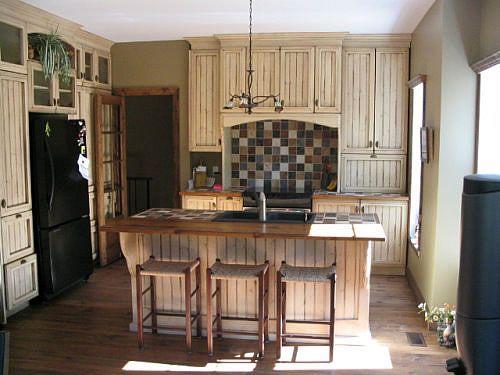 R novations d 39 armoires de cuisine en bois recherche for Armoire de cuisine style champetre