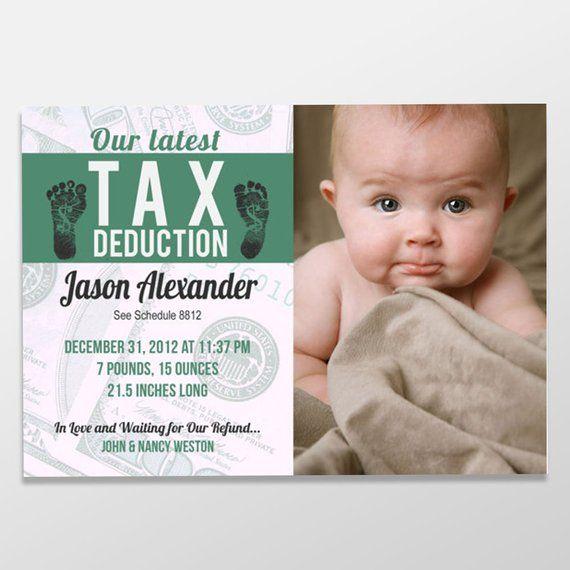Funny Boy or Girl Birth Announcement - Custom Digital Baby Photo