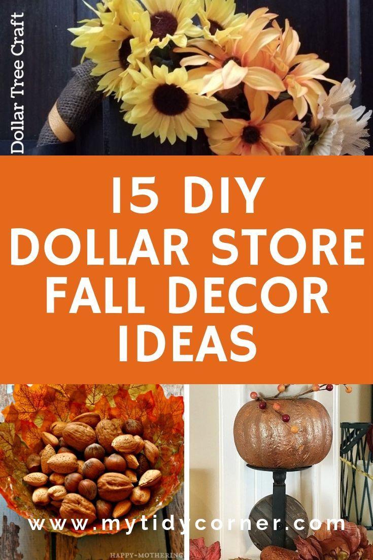 15 DIY Dollar Store Fall Decor Ideas Decorating on the