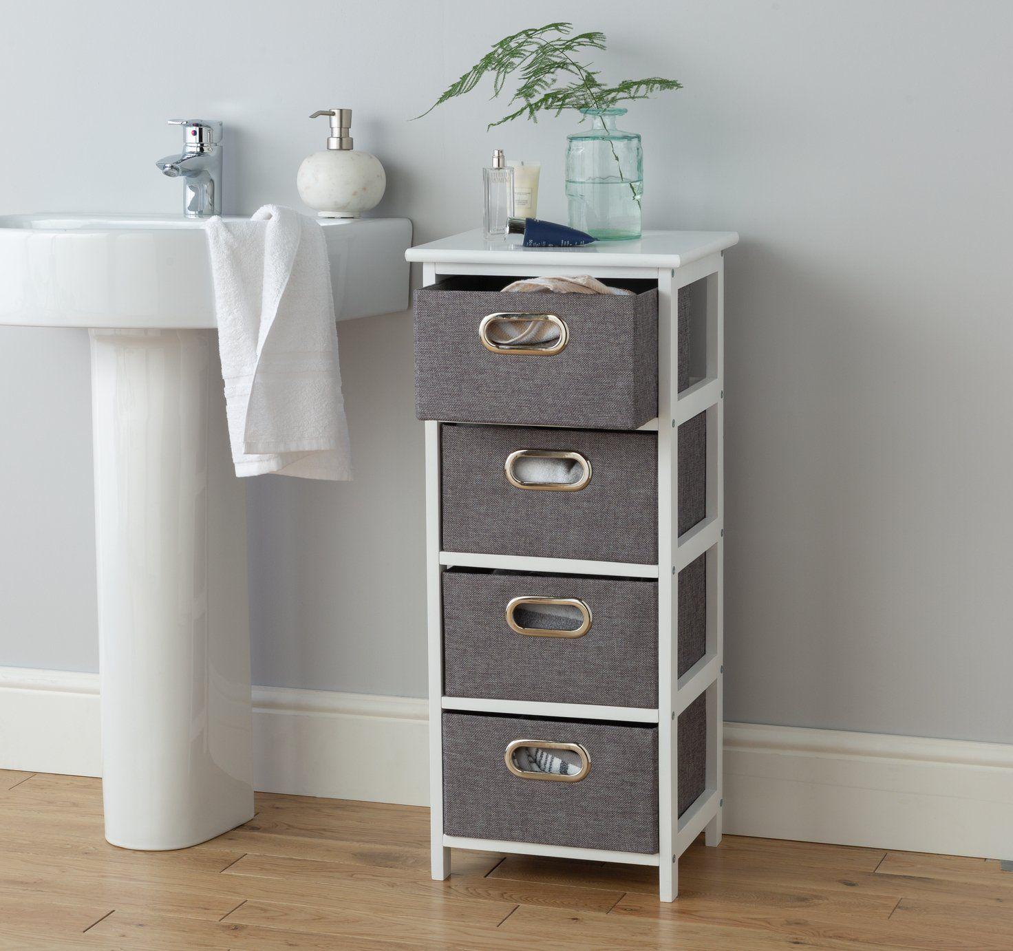 Buy Argos Home 4 Drawer Bathroom Storage Unit - Grey ...