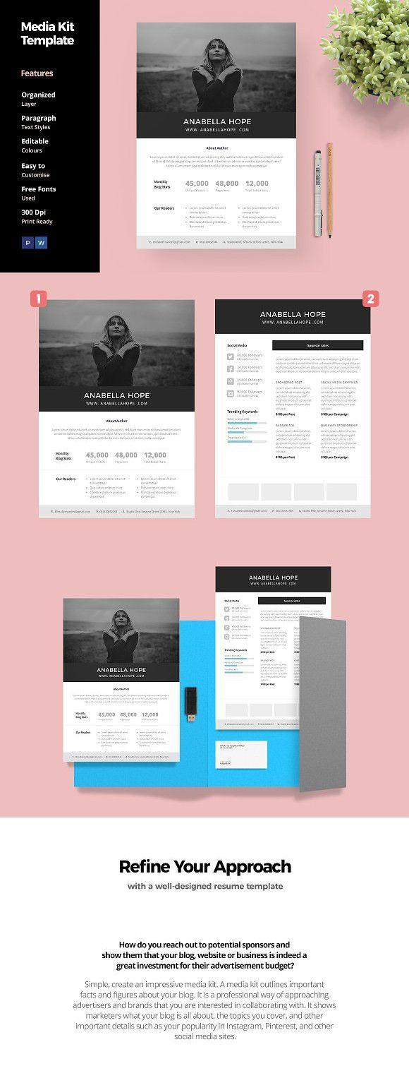 Media Kit Template For Blogger Website Templates Website