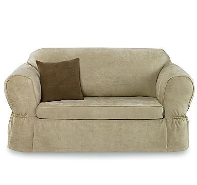 Jcp Maytex Smart Cover Stretch Suede 2 Pc Sofa Slipcover
