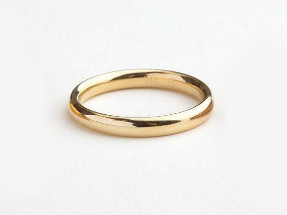 July Sale Gold Wedding Ring Minimal Yellow Gold Ring Man Simple Wedding Band Comfort Fit Mens Wedding Rings Gold Womens Gold Wedding Rings Solid Gold Band