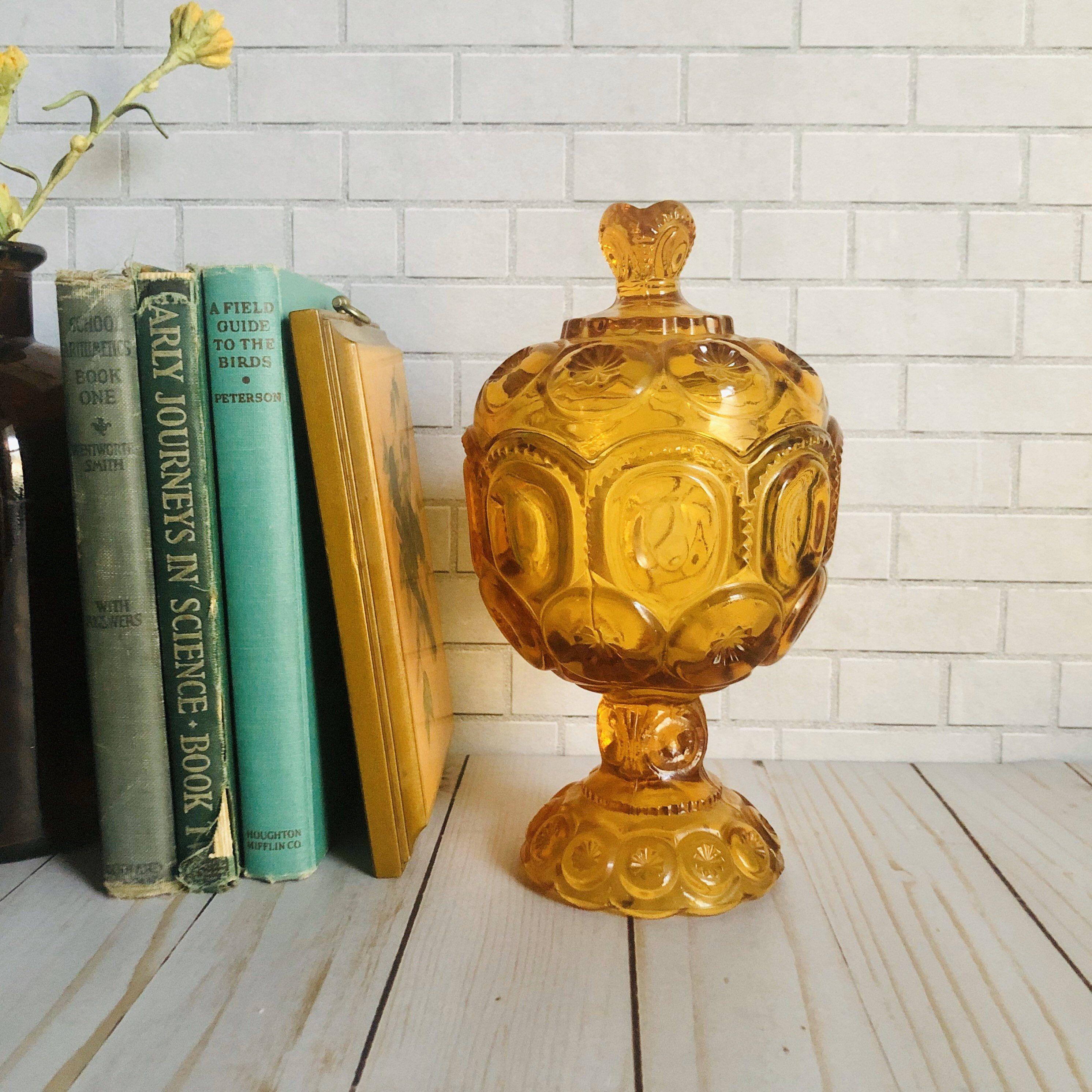Vintage Halloween Moon on Vase