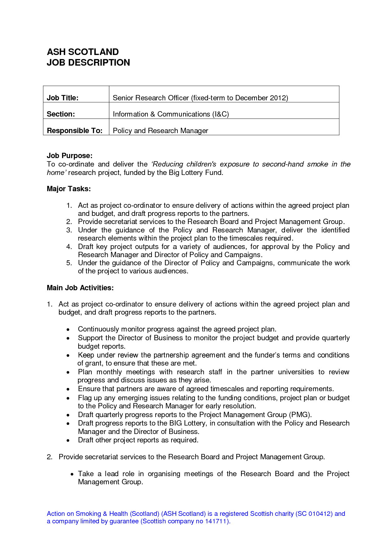 job duties on resume for server