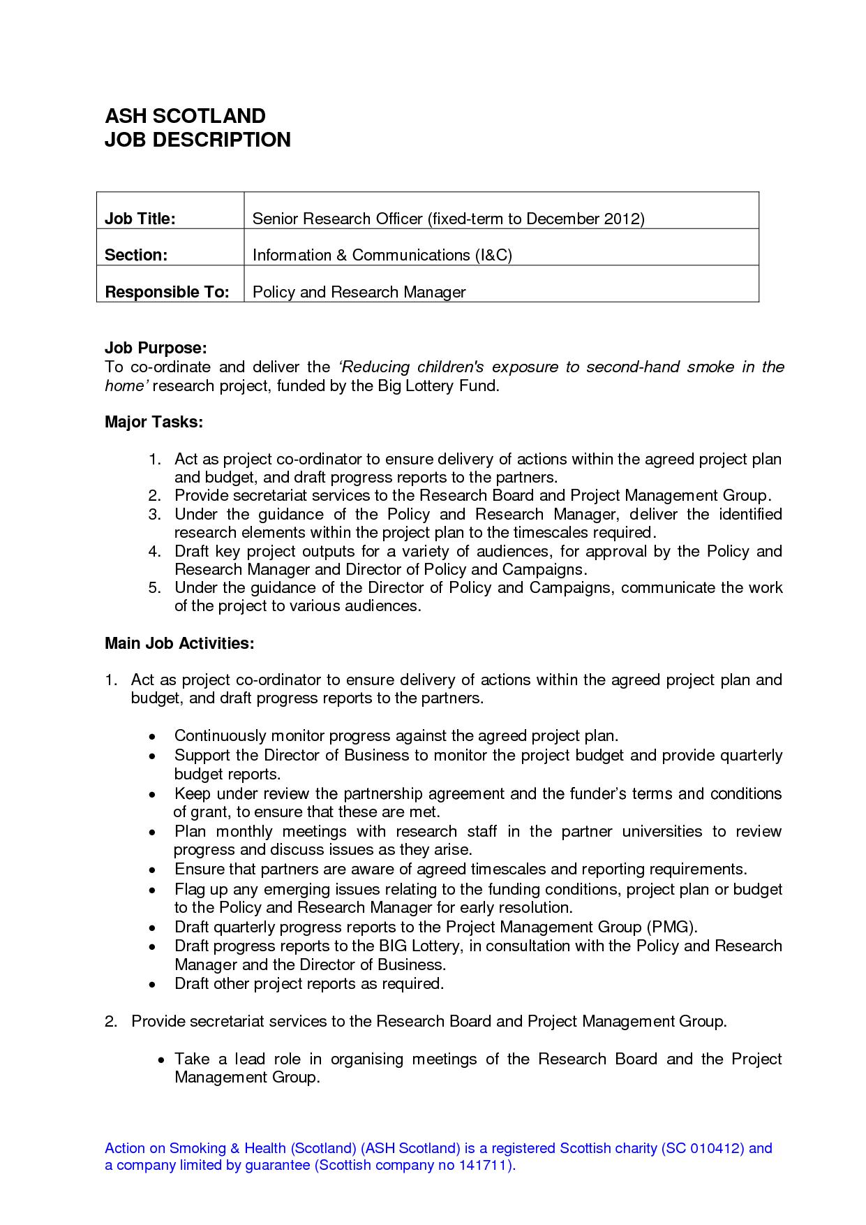 job description job description forms pinterest sample resume
