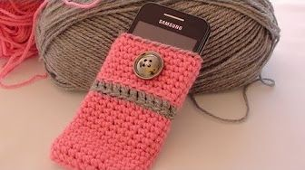 Diy Tutorial How To Crochet Easy Mobile Cell Phone Pouch Case