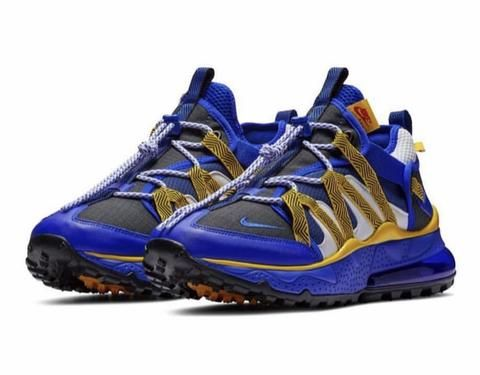 huge discount dad5b e23e8 NIKE AIR MAX 270 UTILITY BLUE GOLD BLACK