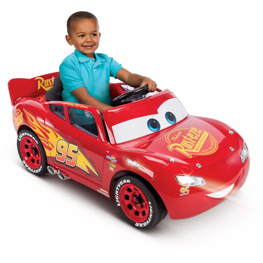 Kids Ride On Car Pixar Cars 3 Lightning Mcqueen 6 Volt Battery