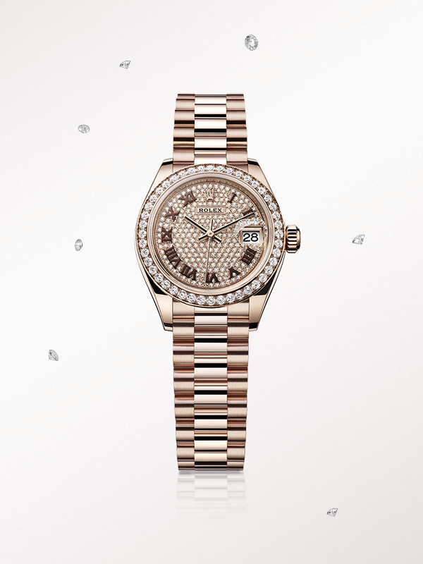 41929c95bcd The Rolex Lady-Datejust 28 in Everose gold