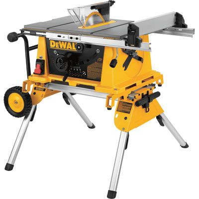 Dewalt 10in Compact Jobsite Table Saw With Rolling Stand Model Dw744xrs Table Saws Accessories Portable Table Saw Dewalt Power Tools