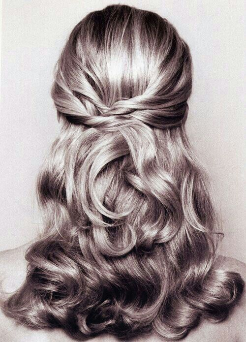 Beautiful Half Updo For Medium Length Hair
