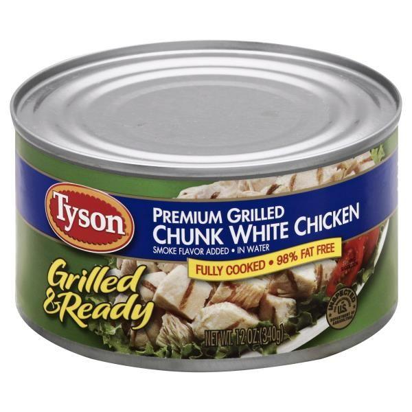 Tyson Chicken, White Chunk, Premium, Grilled, In Water