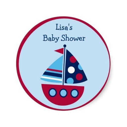 Transportation Sailboat Stickers Envelope Seals