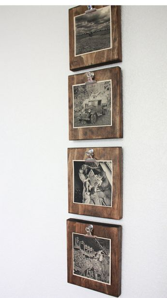 Photo of Set of four 4 rustic wall clip frames image ad