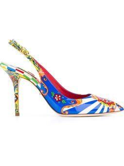 "Pumps mit ""Carretto Siciliano""-Print"