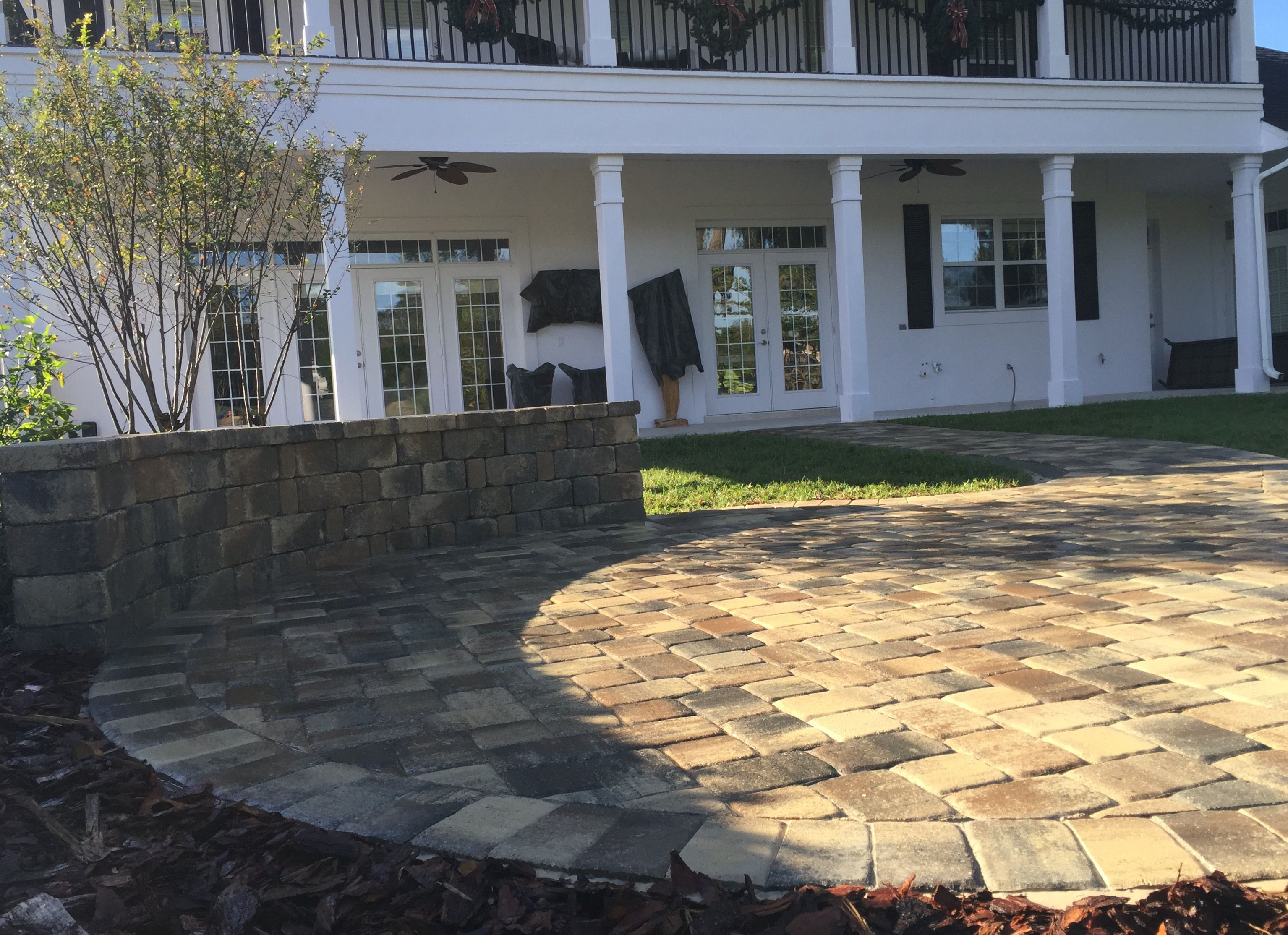 Pin by StoneCraft Pavers on Round Paver Patio and Stone Seating Wall