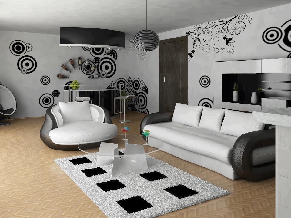 Wohnung Design, Schwarz Und Weiß, Schwarzer, Weiße Wohnzimmer, Retro  Wohnzimmer, Modernes Wohnzimmer Dekor, Wohnzimmer Lounge, Moderne Wandkunst,  ...
