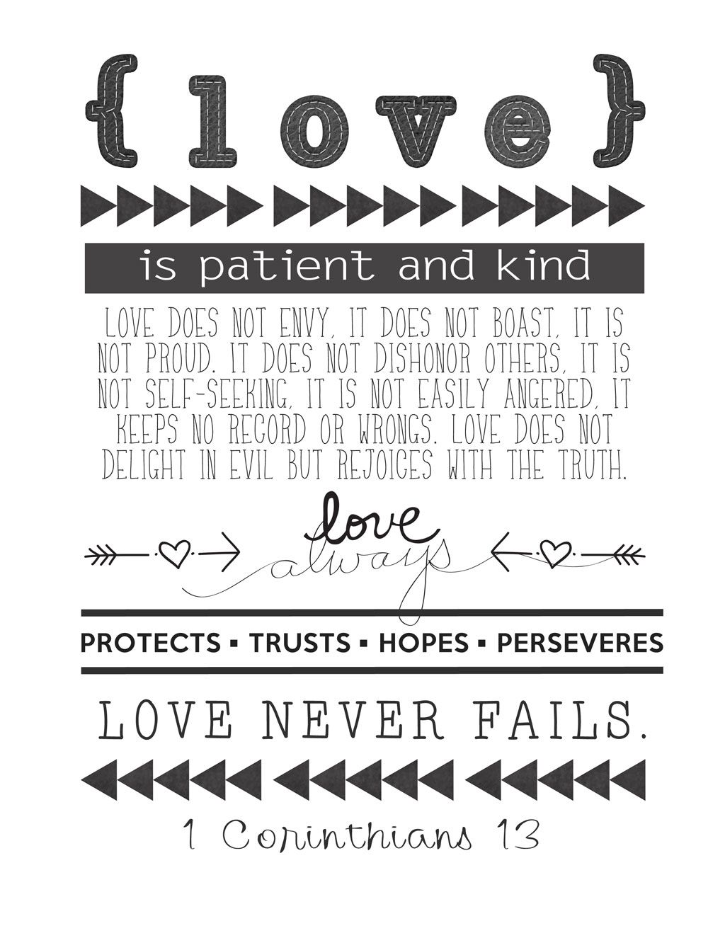 1 Corinthians 13 reminder of how by these traits we show