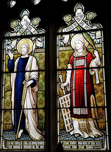Wyck Rissington Perpendicular south-east window of chancel by Hardman St Laurence -88