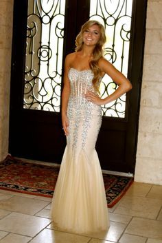 Cute Long Mermaid Prom Dresses 2015