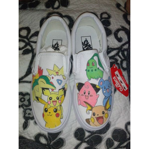 Hand Drawn or Painted Pokemon Shoes ($50) ❤ liked on