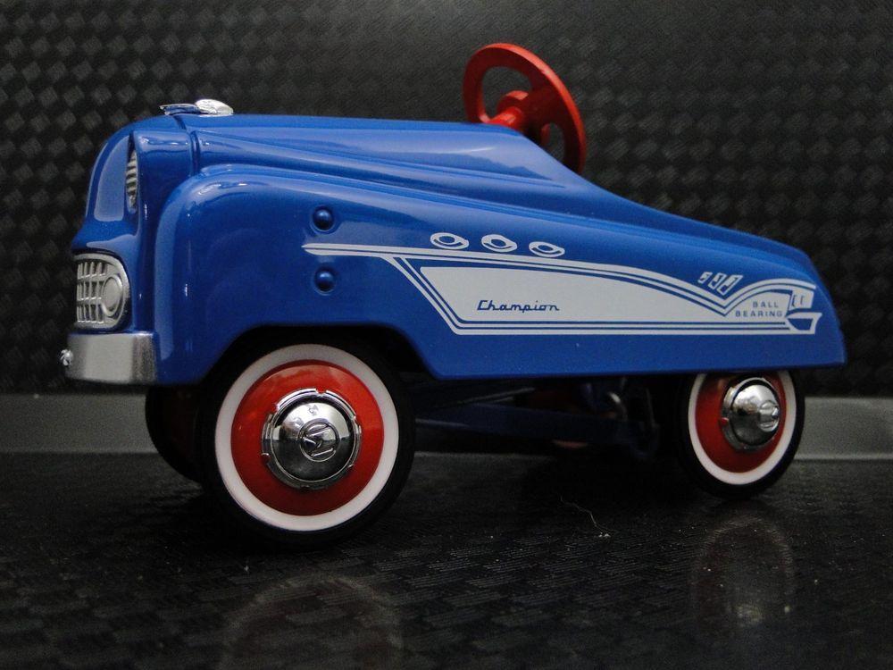 Pedal Car 1950s Buick Sport Rare Vintage Classic Blue Metal Midget Show Model