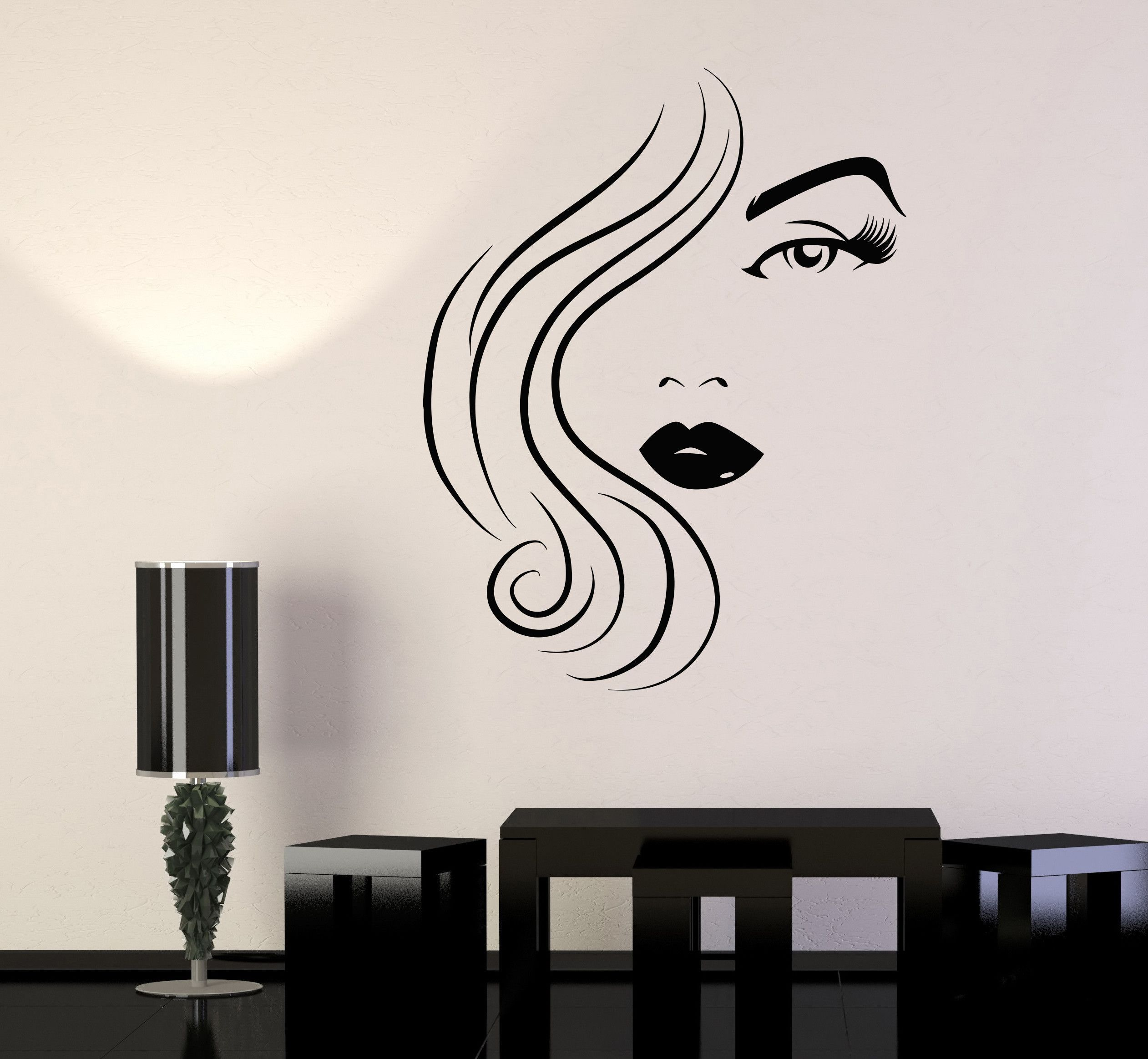 Vinyl wall decal beauty hair salon woman model sexy girl eye lips vinyl wall decal beauty hair salon woman model sexy girl eye lips stickers 1486ig amipublicfo Images
