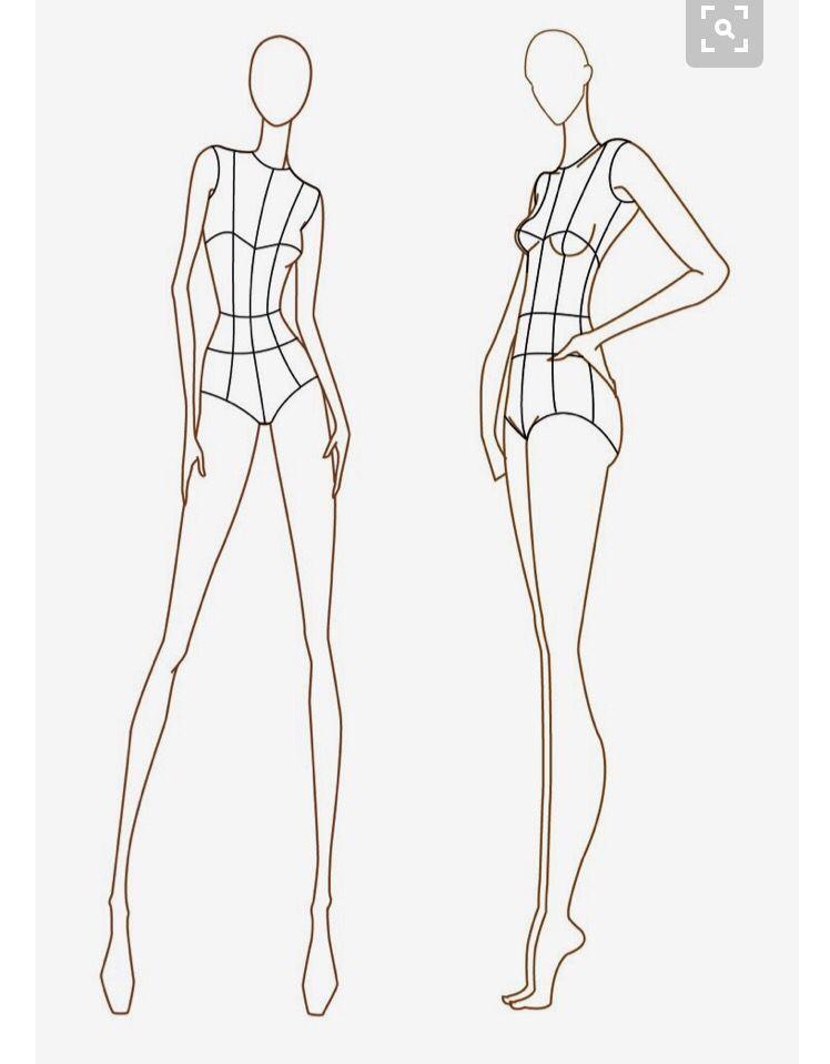 Modedesign Zeichnen In 2020 Fashion Illustration Template Fashion Model Sketch Illustration Fashion Design