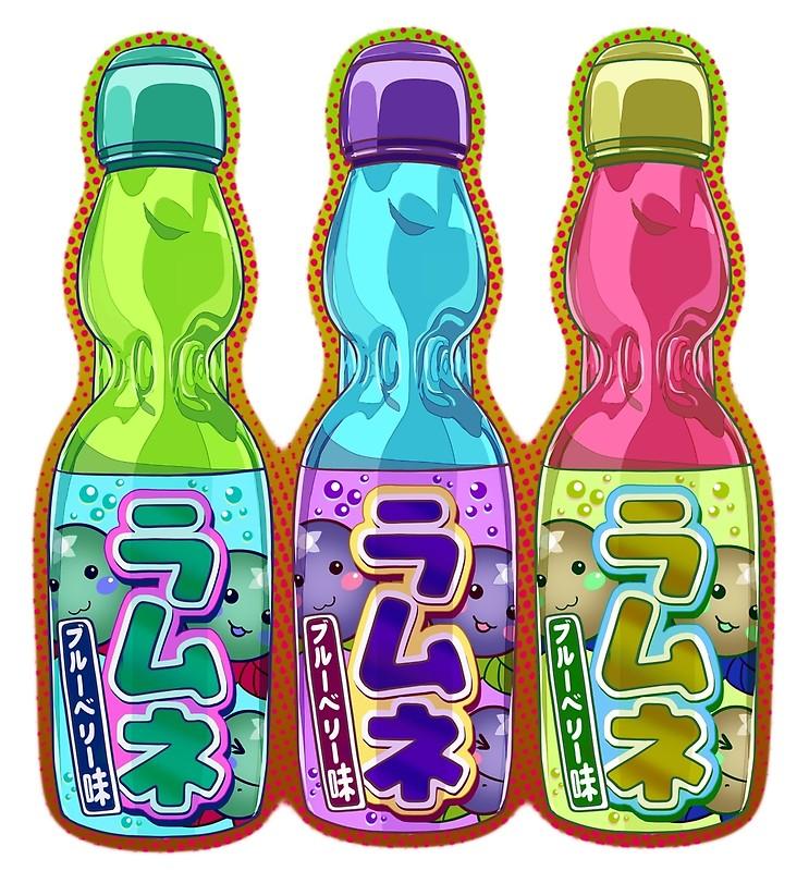 Cute Japanese Ramune Lemonade Drinks For Anime And Japan Style Lovers Cute Art Cute Drawings Japanese Art