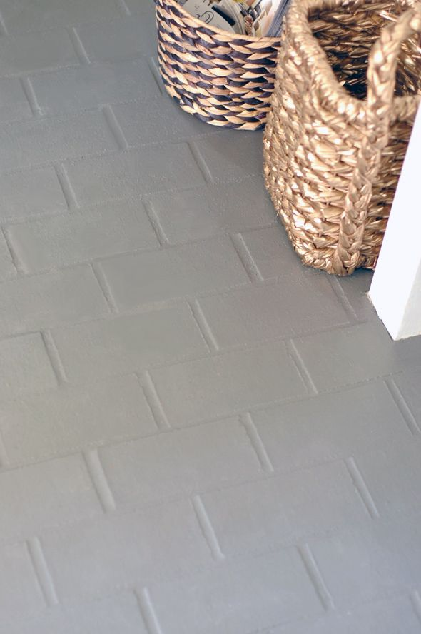 10 Times Gray Was The Perfect Color For Everything Painting Tile Painting Tile Floors Brick Flooring