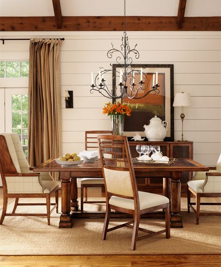 henredon spring lake dining room trestle table and dining