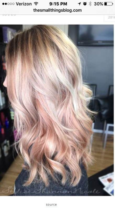 Hair dyed ideas rose gold blonde 51 ideas for 2019