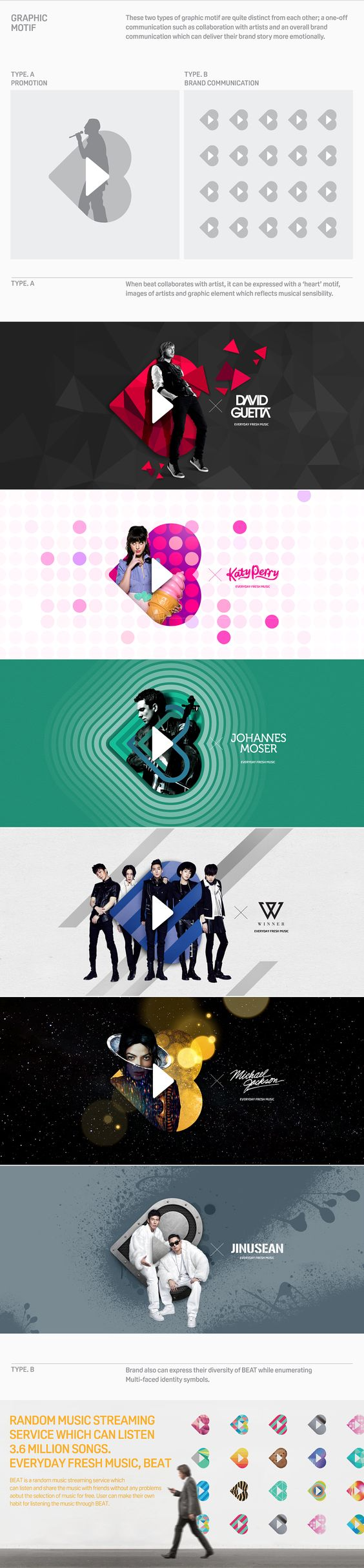 Style frames - motion graphic design  EVERYDAY FRESH MUSIC, BEAT Brand eXperience Design on Behance: