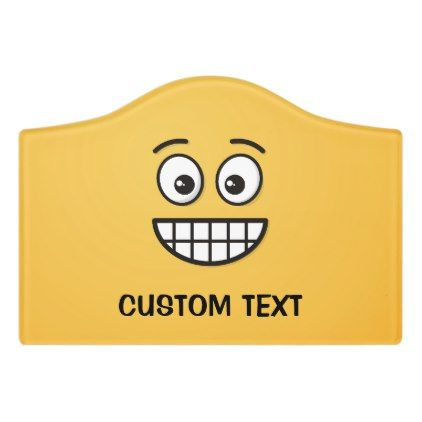 #Grinning Face with Open Eyes Door Sign - #emoji #emojis #smiley #  sc 1 st  Pinterest : door emoji - pezcame.com