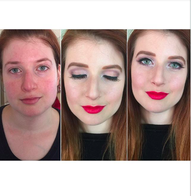 We love this flawless BeforeAndAfter by MakeupArtist