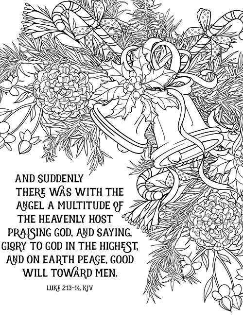 Peace On Earth Bible Verse Coloring Scene Bible Coloring Pages Bible Verse Coloring Bible Coloring