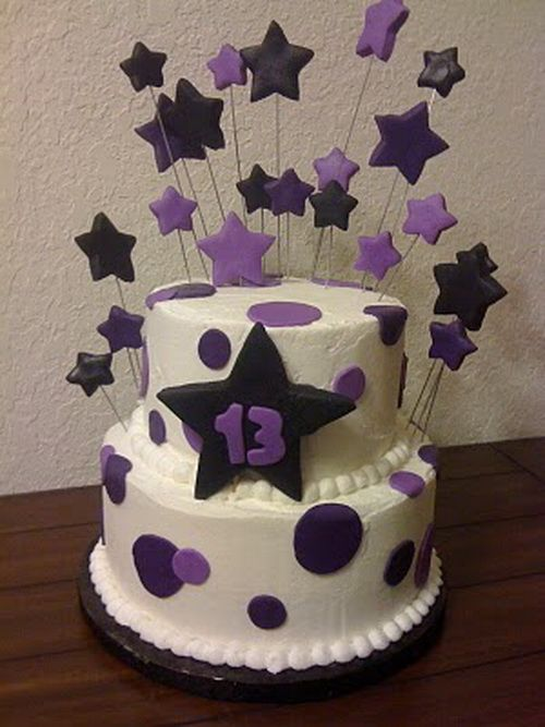 13th birthday cakes funny stars 13th Birthday Cakes for Girls and