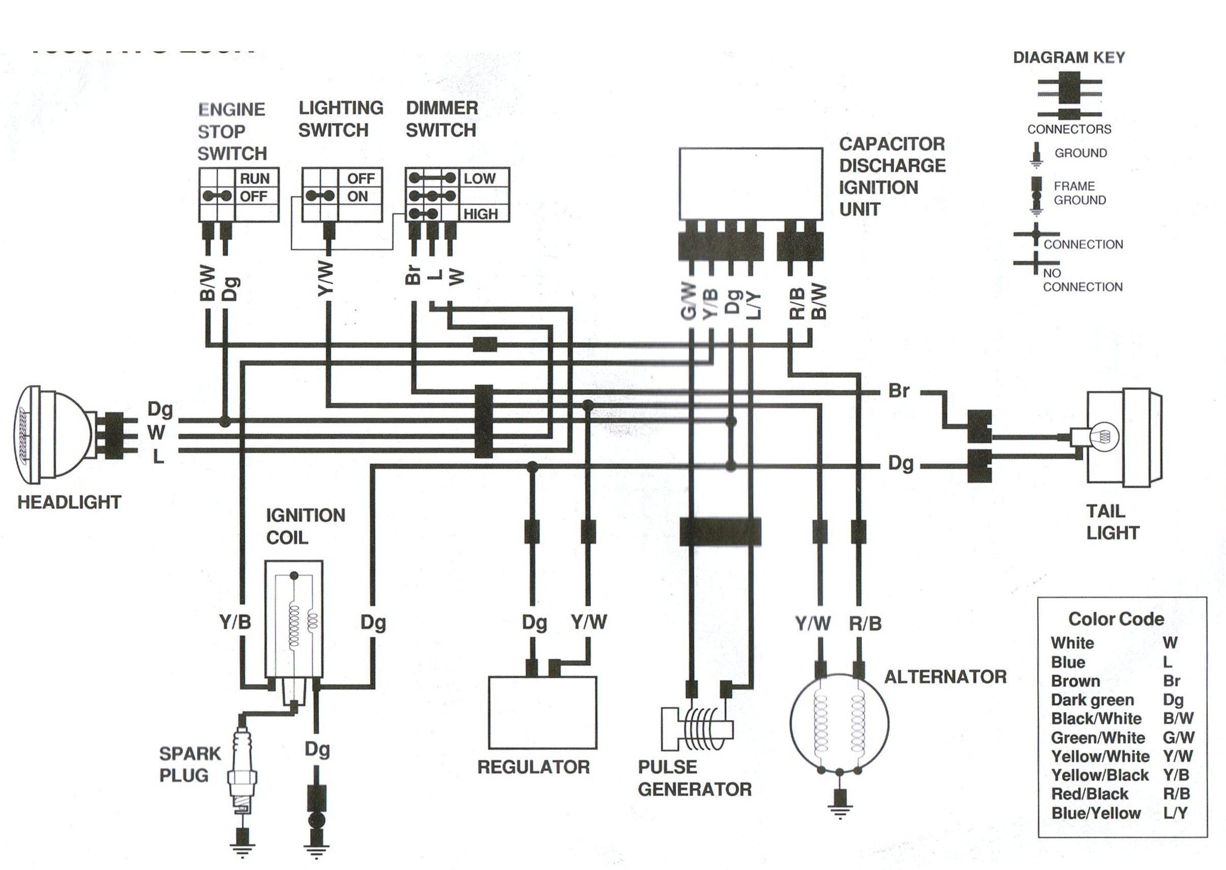 Yamaha 250 Atv Wiring Schematic : Diagram Mercury 350