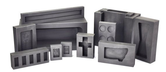 We offer custom Graphite Ingot Molds for casting Gold, Silver