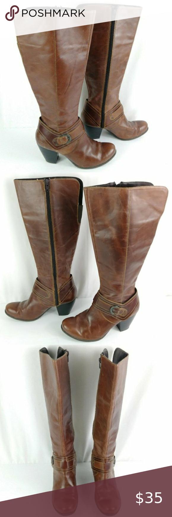 💥Sale b.o.c. Leather Heeled Boots size