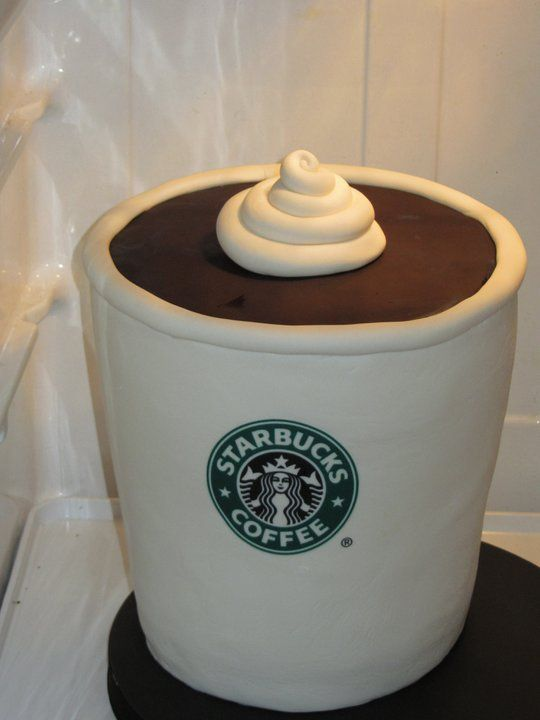 Starbucks coffee cup inspired cake. | Starbucks coffee cup ...