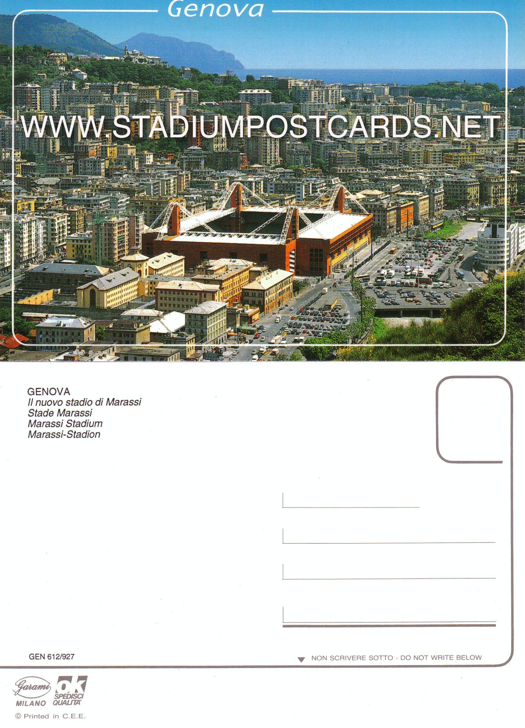 € 0,90 - code : ITA-017 - Genova - Ferraris - stadium postcard cartolina stadio carte stade estadio tarjeta postal