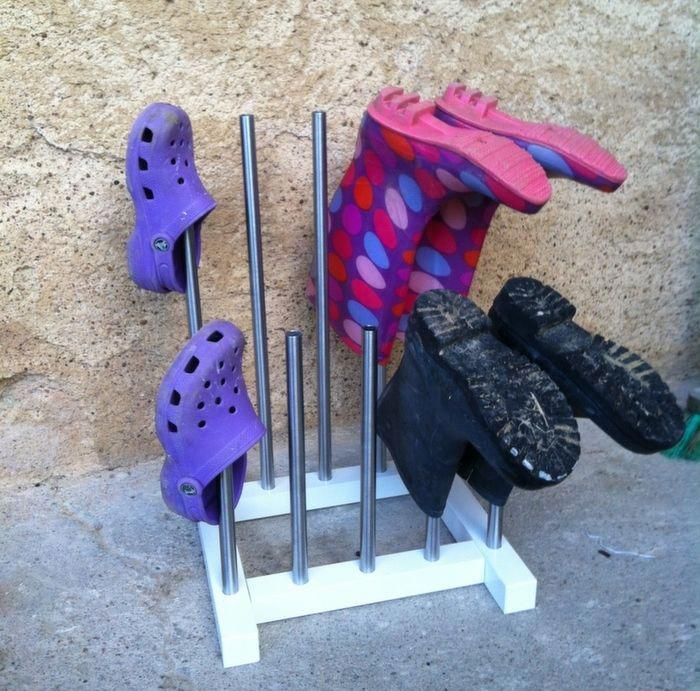 I Made A Diy Welly Rack Because I Was Tired Of Wellies And