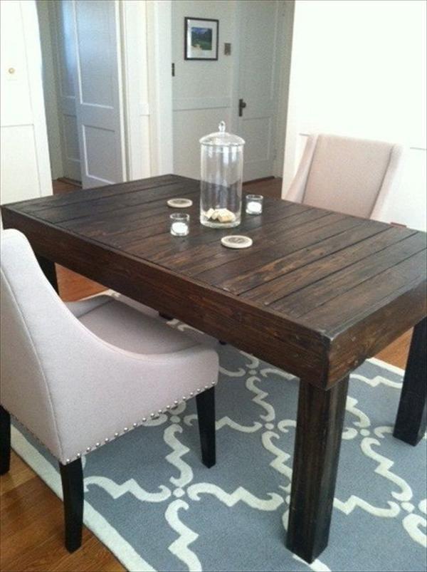 mesa de comedor con palets mesas y mesas auxiliares de