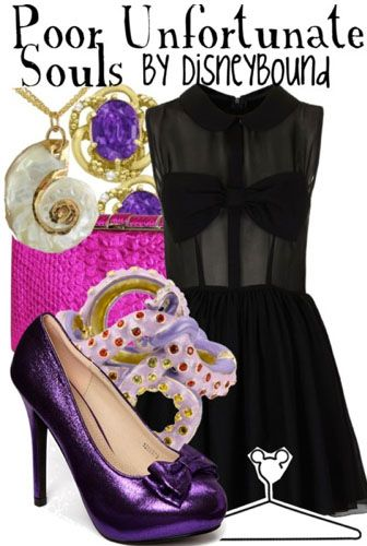 Poor unfortunate souls outfit | Disneybound