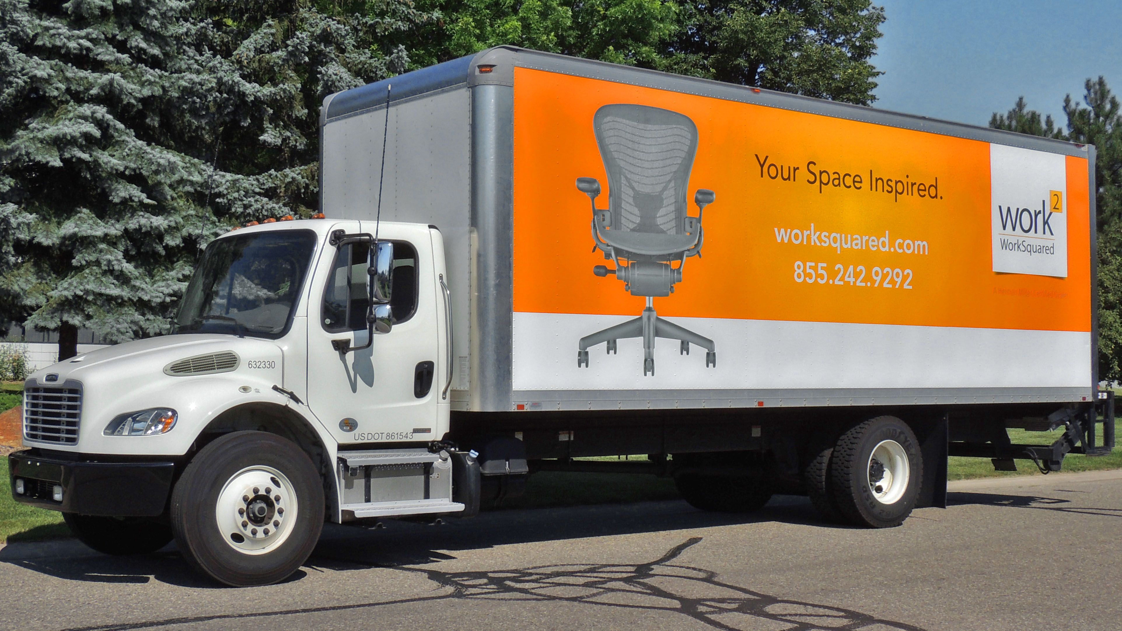 Large Box Truck Vehicle Wrap For Worksquared Call Us At 248 449 1330 To Get Your Vehicle Wrapped Today Car Wrap Vehicles Trucks