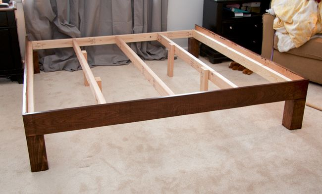 Best Our Hand Built King Sized Platform Bed Bed Frame Legs 400 x 300