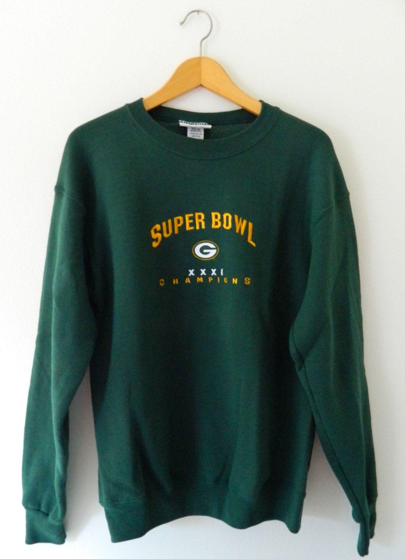890245a4 Green Bay Packers Vintage Sweatshirt // Super Bowl XXXI Champions ...